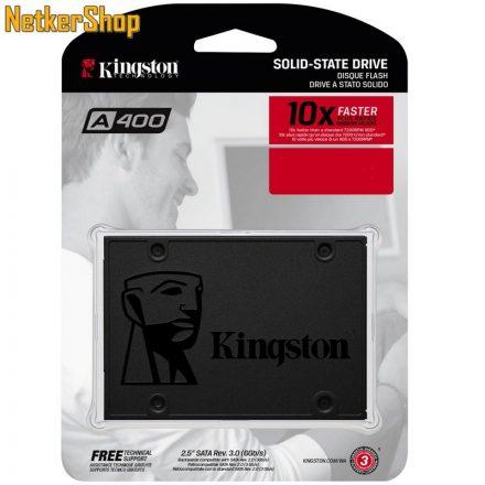 """Kingston SA400S37/240G 240GB A400 SATA3 2.5"""" SSD Merevlemez (3 év garancia)"""
