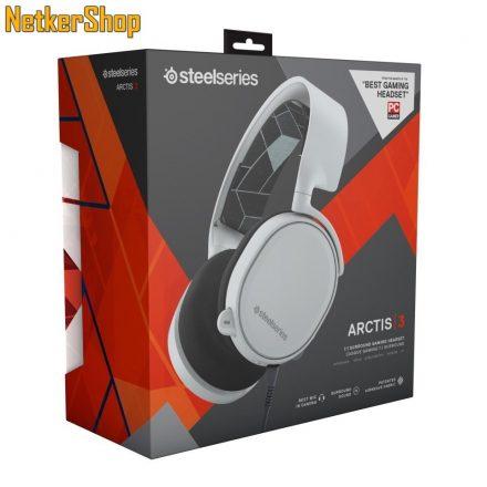 Steelseries Arctis 3 (2019 Edition) fehér 7.1 mikrofonos gaming fejhallgató headset (2 év garancia)