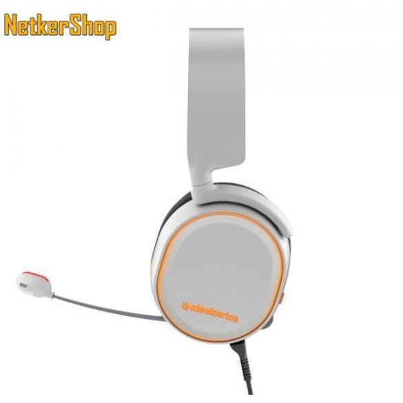 Steelseries Arctis 5 fehér 7.1 Gaming mikrofonos Fejhallgató Headset (2 év  garancia) eb22c8d2b0