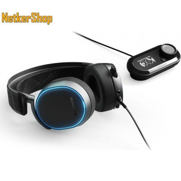 Steelseries Arctis Pro + GameDAC fekete Gaming mikrofonos Fejhallgató  Headset (2 év garancia) c5d6a4ee03