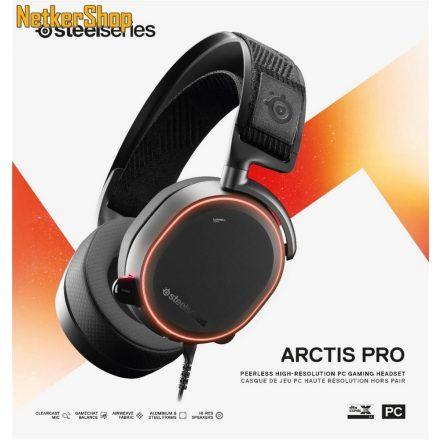 Steelseries Arctis Pro fekete Gaming mikrofonos Fejhallgató/Headset (2 év garancia)