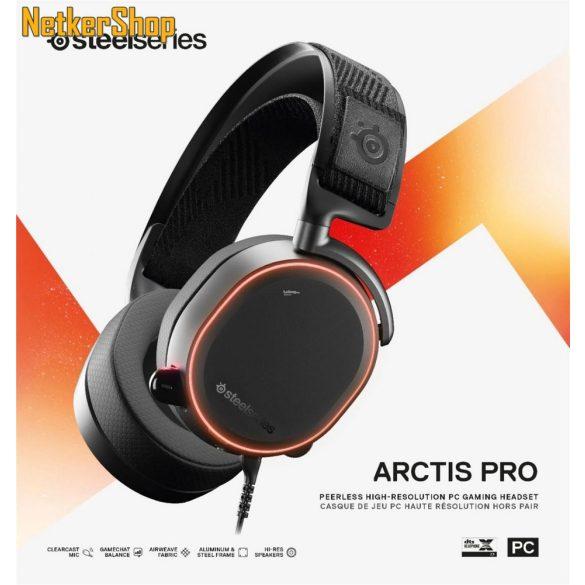 Steelseries Arctis Pro fekete Gaming mikrofonos Fejhallgató 9e0e0cfc80