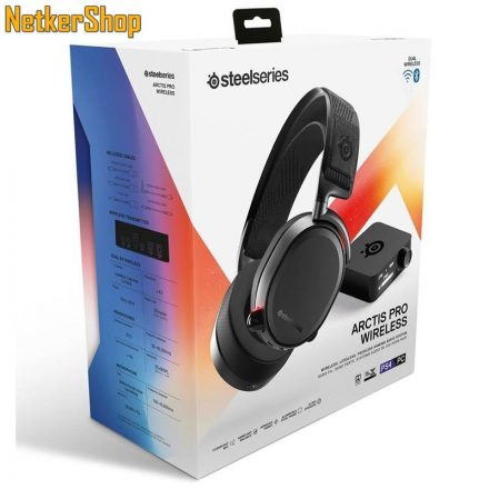 Steelseries Arctis Pro Wireless fekete Gaming mikrofonos vezeték nélküli BT Fejhallgató/Headset (2 év garancia)