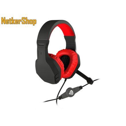 Natec Genesis Argon 200 Gaming fekete-piros mikrofonos Fejhallgató/Headset (2 év garancia)