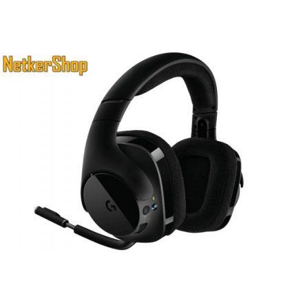 Logitech G533 Wireless (981-000634) Gaming DTS 7.1 fekete vezeték nélküli mikrofonos Fejhallgató/Headset (2 év garancia)