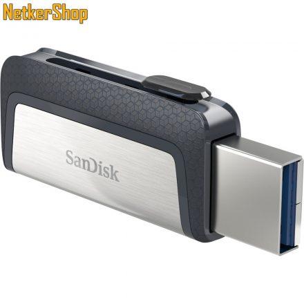 Sandisk 128GB Ultra Dual Drive USB Type-C (SDDDC2-128G) USB3.1/USB Type-C fekete-ezüst Pendrive (5 év garancia)