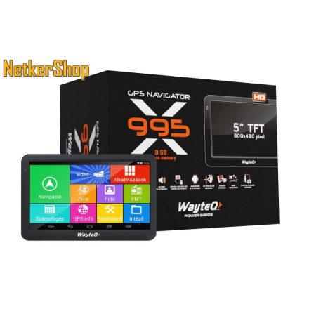 """Wayteq X995 GPS/TAB (WX995) 5"""" 8GB Bluetooth térkép nélkül (1 év garancia)"""
