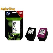 HP N9J71AE (62) fekete + színes Combo-pack eredeti tintapatron (1 év garancia)