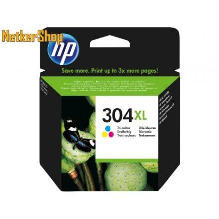 HP N9K07AE (304XL) színes eredeti tintapatron (1 év garancia)