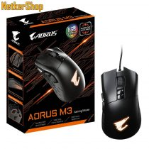 Gigabyte Aorus M3 optikai USB fekete gaming egér (2 év garancia)