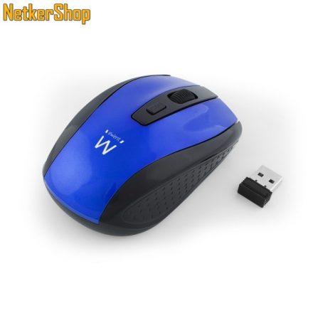 Ewent EW3238 optikai vezeték nélküli USB eneriatakarékos kék-fekete egér (2 év garancia)