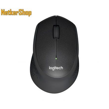 Logitech M330 Silent Plus optikai vezeték nélküli USB fekete egér (2 év garancia)