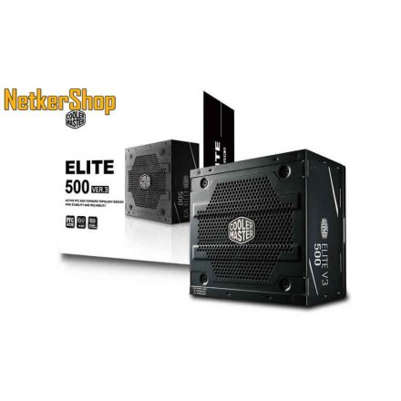 CoolerMaster Elite V3 500 500W 12cm 80 Plus BOX tápegység (3 év garancia)
