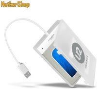 "AXAGON ADSA-1S 2.5"" USB2.0-SATA 2 fehér HDD SSD külső mobilrack (2 év garancia)"