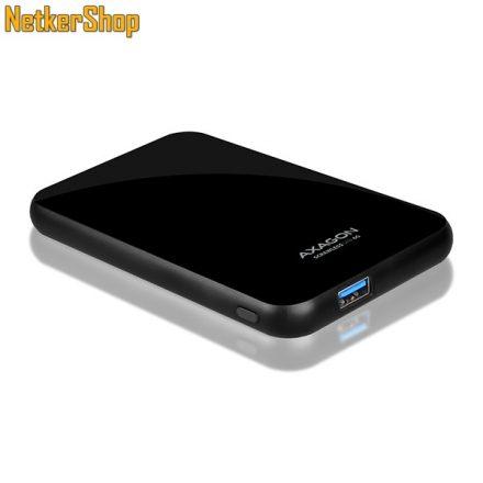 "AXAGON EE25-S6B 2.5"" USB3.0-SATA 3 fekete HDD SSD külső mobilrack (2 év garancia)"