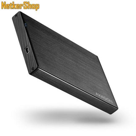 "AXAGON EE25-XA ALINE BOX 2.5"" USB2.0-SATA aluminium HDD SSD külső mobilrack (2 év garancia)"