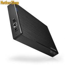 "AXAGON EE35-XA3 ALINE BOX 3.5"" USB3.0-SATA 2 aluminium HDD külső mobilrack (2 év garancia)"