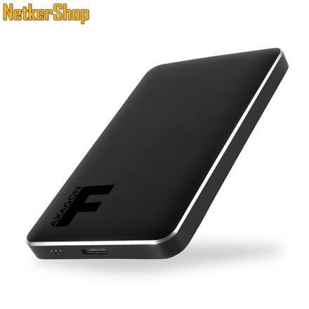 "AXAGON EE25-F6B FULLMETAL BOX 2.5"" USB3.0-SATA 3 fém fekete HDD SSD külső mobilrack (2 év garancia)"