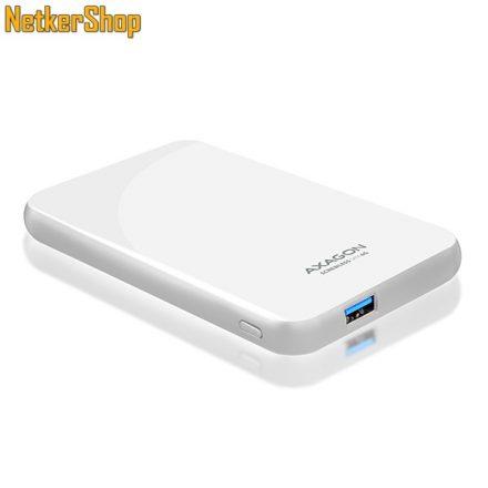 "AXAGON EE25-S6 2.5"" USB3.0-SATA 3 fehér HDD SSD külső mobilrack (2 év garancia)"