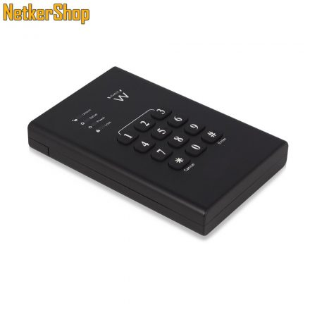 "Ewent EW7040 2.5"" USB3.0-SATA billentyűzáras titkosítású fekete HDD SSD külső mobilrack (5 év garancia)"