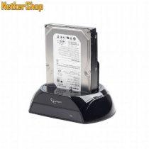 "Gembird HD32-U3S-2 2.5"" 3.5"" USB3.0-SATA 2 fekete HDD SSD külső dokkoló (1 év garancia)"