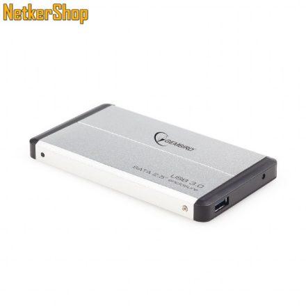 "Gembird EE2-U3S-2-S 2.5"" USB3.0-SATA aluminium ezüst HDD SSD külső mobilrack (2 év garancia)"