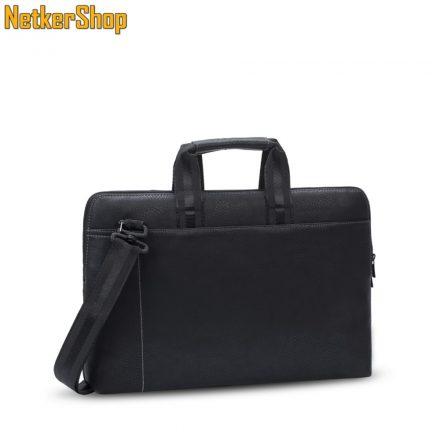 "RivaCase Orly 8930 (6906201089308) PU 15.6"" slim fekete notebook táska (2 év garancia)"