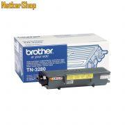 Brother TN-3280 (TN3280) nagytöltetű fekete eredeti toner (1 év garancia)