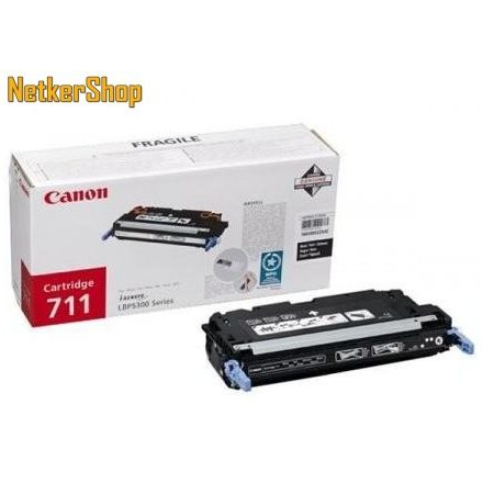 Canon CRG 711 (1660B002) fekete eredeti toner (1 év garancia)