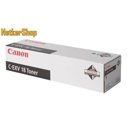 Canon C-EXV18 (0386B002) fekete eredeti toner (1 év garancia)