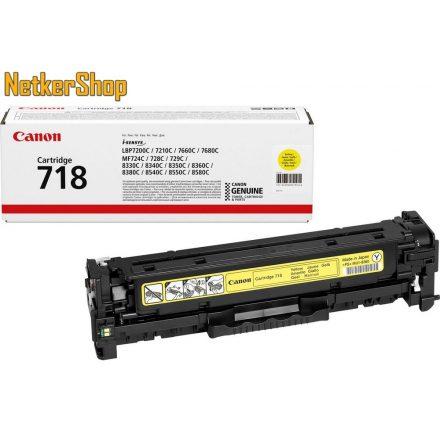 Canon CRG 718 (2659B002) sárga eredeti toner (1 év garancia)