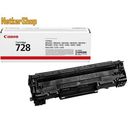 Canon CRG-728 (3500B002) fekete eredeti toner (1 év garancia)