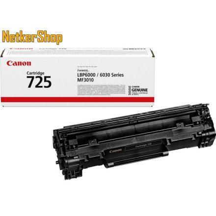 Canon CRG-725 (3484B002) fekete eredeti toner (1 év garancia)
