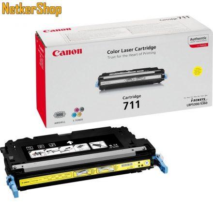 Canon CRG 711 (1657B002) sárga eredeti toner (1 év garancia)