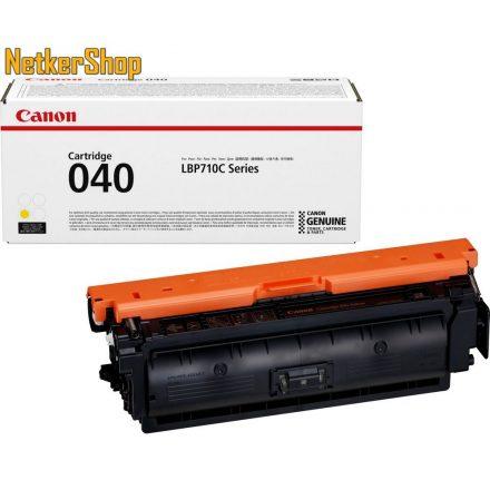 Canon CRG 040 (0454C001) sárga eredeti toner (1 év garancia)