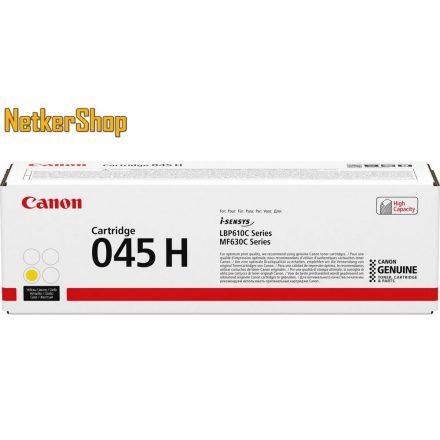 Canon CRG 045H (1243C002) nagy kapacitású sárga eredeti toner (1 év garancia)