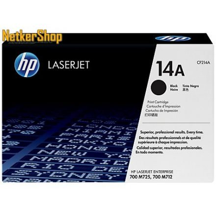 HP CF214A (14A) fekete eredeti toner (1 év garancia)