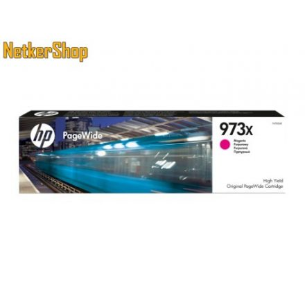 HP F6T82AE (973X) nagykapacitású magenta eredeti toner (1 év garancia)