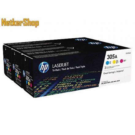 HP CF370AM (305A) 3-pack C,M,Y színes eredeti toner (1 év garancia)