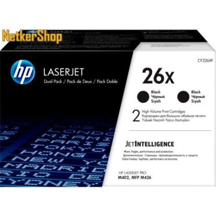 HP CF226XD (26X) duopack nagykapacitású fekete eredeti toner (1 év garancia)