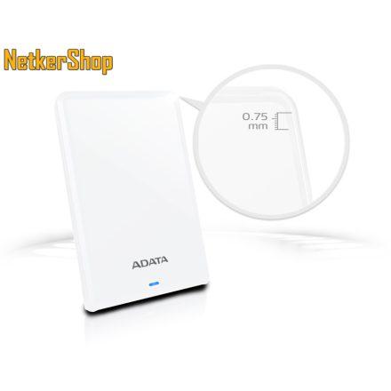 "A-Data HV620S (AHV620S-1TU31-CWH) 1TB 2.5"" USB3.1 fehér külső Merevlemez HDD Winchester (3 év garancia)"