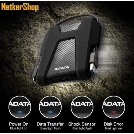 """A-Data HD680 (AHD680-2TU31-CBK) 2TB 2.5"""" USB3.1 fekete külső Merevlemez HDD Winchester (3 év garancia)"""