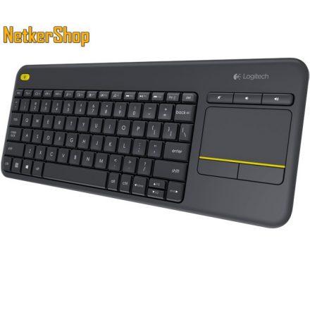 Logitech K400 Plus Wireless Touch USB HUN fekete multimédiás billentyűzet + touchpad (2 év garancia)