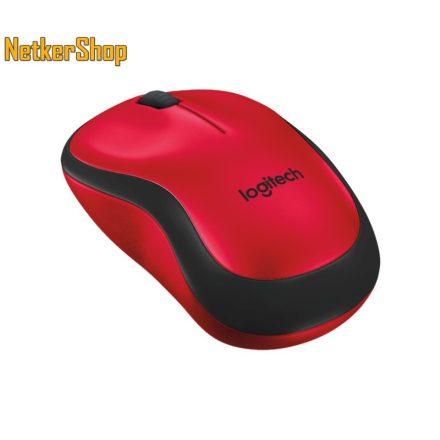 Logitech M220 Silent optikai vezeték nélküli USB piros egér (2 év garancia)
