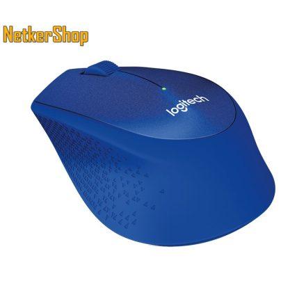 Logitech M330 Silent Plus optikai vezeték nélküli USB kék egér (2 év garancia)