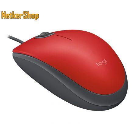 Logitech M110 Silent optikai USB piros egér (2 év garancia)