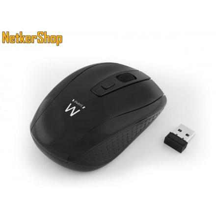 Ewent EW3235 optikai vezeték nélküli USB eneriatakarékos fekete egér (2 év garancia)