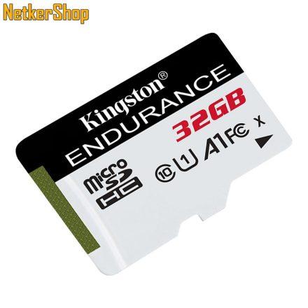 Kingston 32GB micro SDHC CL10 UHS-I U1 A1 SDCE/32GB High Endurance memóriakártya adapter nélkül (2 év garancia)