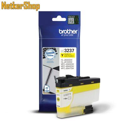 Brother LC-3237Y sárga eredeti tintapatron (1 év garancia)