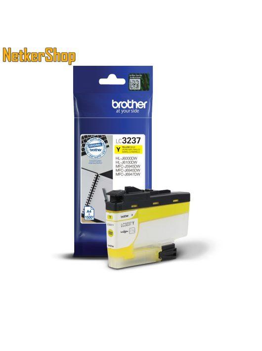 Brother LC3237Y sárga eredeti tintapatron (1 év garancia)